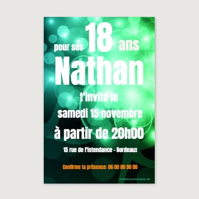 Invitation anniversaire Adulte DJ