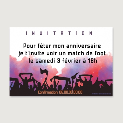 Invitation anniversaire Adolescent Supporter